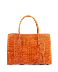 Nancy Gonzalez Signature Crocodile Top Handle Satchel Bag Brick