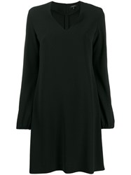 Antonelli V Neck Shift Dress Black