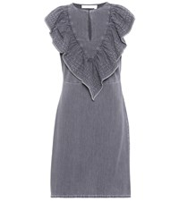 See By Chloe Sleeveless Denim Minidress Grey