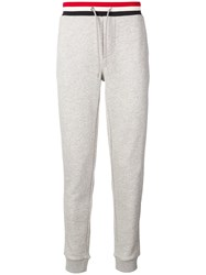 Moncler Striped Waistband Track Pants Grey