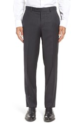 Ted Baker Men's London 'Jefferson' Flat Front Solid Wool Trousers