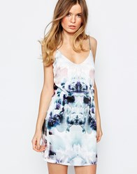 Goldie Killing Time Cami Dress With Rope Strap Detail In Geo Floral Geo Multi Floral