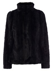 Coast Zurich Faux Fur Coat Black