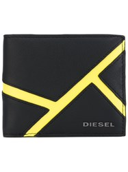 Diesel Billfold Wallet Men Calf Leather Leather Polyester One Size Black