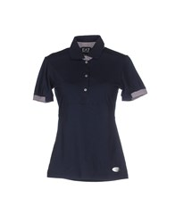 Emporio Armani Ea7 Topwear Polo Shirts Women Dark Blue