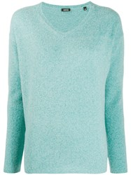 Aspesi Knit V Neck Sweater Blue