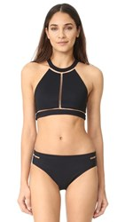 Alexander Wang Crew Neck Bikini Top Matrix
