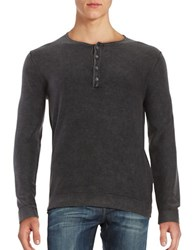 Strellson Lennon Cotton Henley Shirt Black