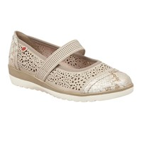 Lotus Relife Timour Mary Jane Flats Beige