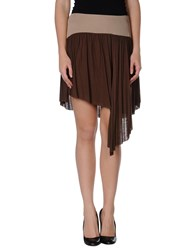 Michelle Windheuser Skirts Knee Length Skirts Women Cocoa