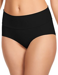 Jockey Slimmers Matte And Shine Shaping Brief Black