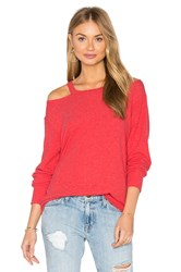 Lna Bolero Cut Out Sweater Red