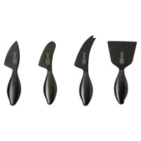 Stainless Steel Cheese Knife Set Black