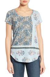 Lucky Brand Women's Mix Paisley Tee