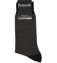 Pantherella Birdseye Socks Black