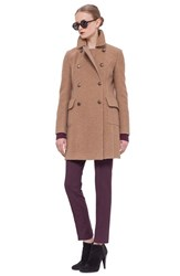 Women's Akris Punto Double Breasted Wool And Camel Hair Coat