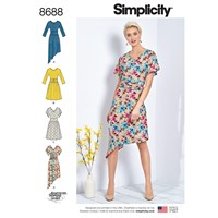 Simplicity Misses' Dresses Sewing Pattern 8688