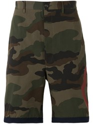Moncler Camouflage Print Shorts Brown