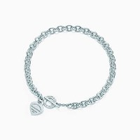 Tiffany And Co. Return To Tiffanytm Heart Tag Toggle Necklace In Sterling Silver.