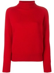 Ymc Roll Neck Sweater Red