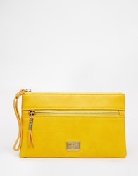 Marc B Marc Lea Zip Pouch Yellow
