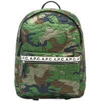A.P.C. Camo Stitch Backpack Green