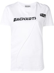 Each X Other Deconstructed Logo T Shirt White