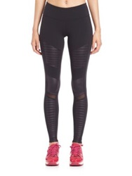 Alo Yoga Athena Quilted Panel Performance Leggings Black