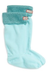 Hunter Women's Original Tall Glitter Cuff Welly Boot Socks Pale Mint