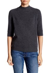 14Th And Union Mock Neck Cashmere Sweater Petite Gray