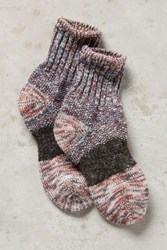 Anthropologie Smokey Ankle Socks Grey Motif