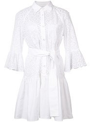 Derek Lam 10 Crosby Tie Waist Shirt Dress Women Cotton 12 White