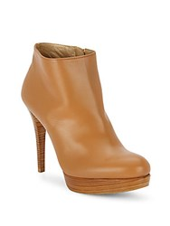 Stuart Weitzman Stop It Leather Booties Camel