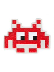 Anya Hindmarch 'Space Invaders' Keyring Red