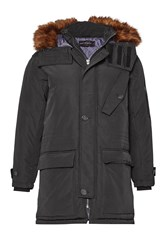 French Connection Men's Perkins Parka Jacket Black