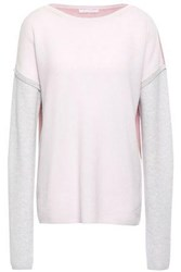 Duffy Woman Color Block Cashmere Sweater Pastel Pink