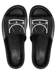 Mcq By Alexander Mcqueen Mcq Alexander Mcqueen Glyph Logo Printed Leather Slide Sandals