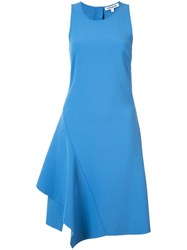 Elizabeth And James Flared Asymmetric Mini Dress Blue