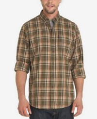 G.H. Bass And Co. Men's Madawaska Trail Plaid Flannel Shirt Forest Night