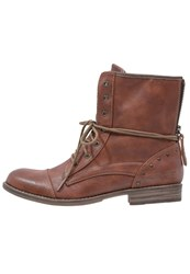 Mustang Laceup Boots Kastanie Brown