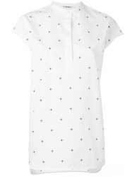Neil Barrett Star Print Blouse White