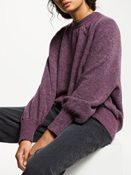 And Or Mika High Neck Jumper Purple