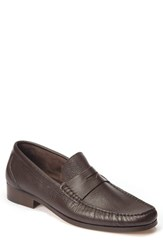 Sandro Moscoloni Men's Segovia Penny Loafer Brown Leather