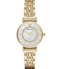 Emporio Armani Ar1907 Gianni T Bar Gold Plated Stainless Steel Watch