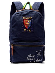 cd24b029b7 Polo Ralph Lauren Crest And Logo Embroidered Backpack Navy