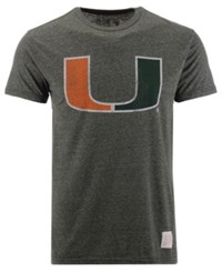 Retro Brand Miami Hurricanes Mock Twist Vault Logo T Shirt Green