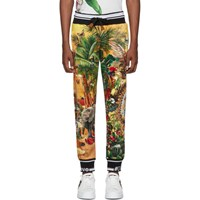 Dolce And Gabbana Multicolor Tropical King Print Lounge Pants