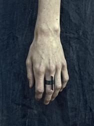 Murky Oxidized Silver Blade Ring