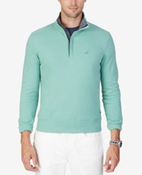 Nautica Quarter Zip Front Fleece Teal Green
