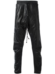 Lost And Found Rooms Leather Effect Drawstring Trousers Black